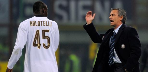 Balotelli e Mourinho já trabalharam juntos na Internazionale de Milão