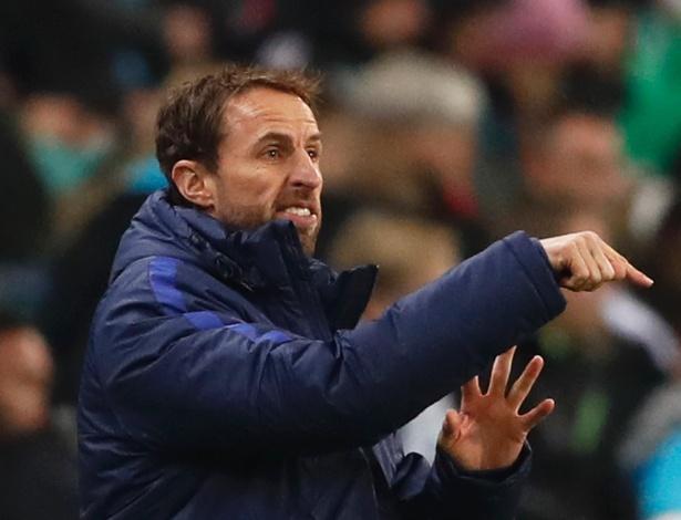 O treinador Gareth Southgate, 47, da seleção inglesa
