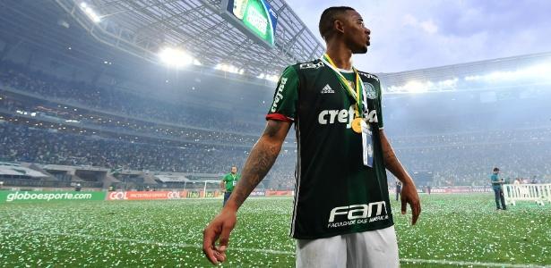 Gabriel Jesus se despediu do Allianz Parque com o título brasileiro em mãos - Nelson Almeida/AFP