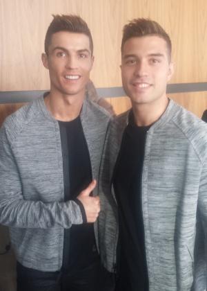 Ronaldo ao lado do dublê Diego Dávila - Acervo Pessoal