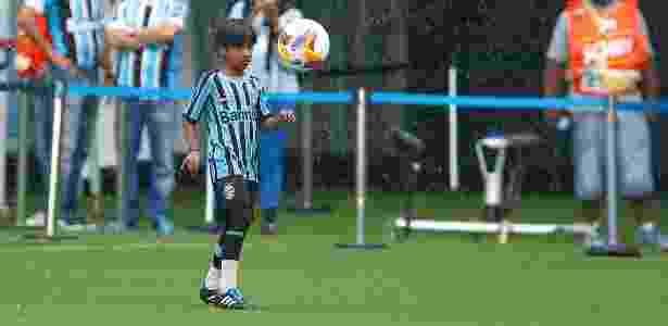 Emanuel Ferreira, o Manu, durante exibição na Arena do Grêmio - Lucas Uebel/Grêmio