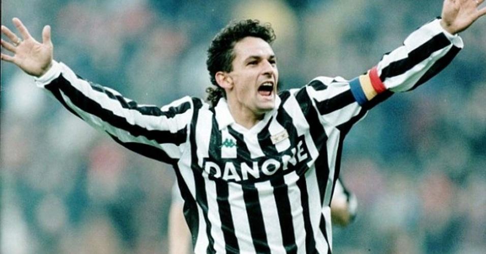 Roberto Baggio viveu seus melhores dias vestindo a camisa da Juventus nos anos 90