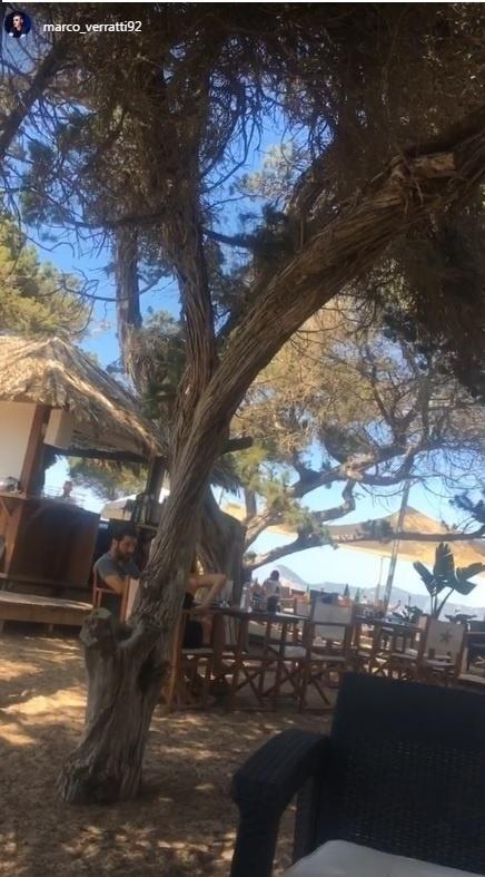 Verratti passa as férias em Ibiza