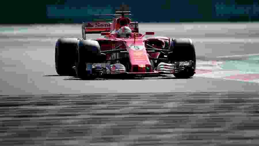 Sebastian Vettel pilota treino classificatório do GP do México - Alfredo Estrella/AFP