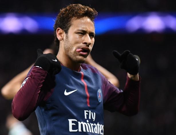 Neymar marcou duas vezes na partida entre PSG e Celtic