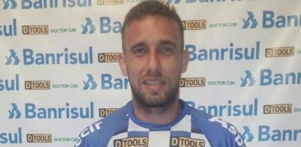 Rafael Porcellis, jogador do São José-RS, que disputa semifinal do Gauchão