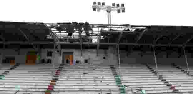 Parte do telhado das Laranjeiras cedeu - Mailson Santana/Fluminense - Mailson Santana/Fluminense