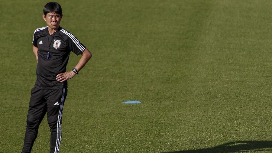 Técnico Hajime Moriyasu não quer que seu time só ganhe experiência no Brasil - Miguel Schincariol/AFP