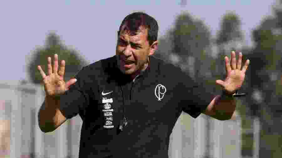 Técnico Fábio Carille comanda treino do Corinthians no CT Joaquim Grava - Daniel Augusto Jr/Ag. Corinthians