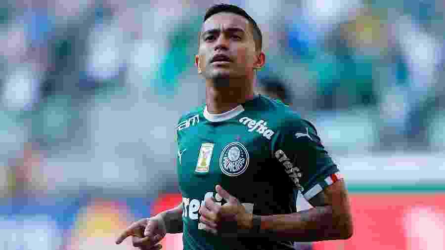Dudu comemora após marcar para o Palmeiras contra o Bahia pelo Campeonato Brasileiro - Daniel Vorley/AGIF