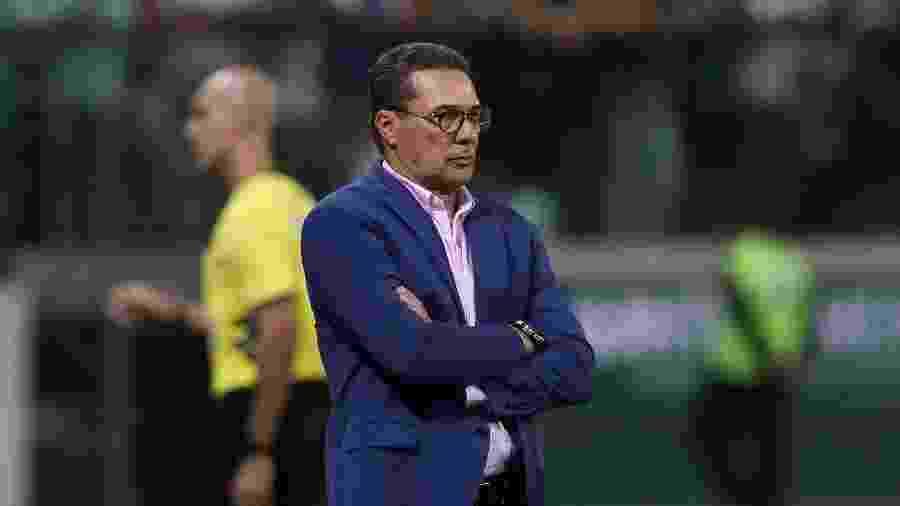 Vanderlei Luxemburgo à beira do campo no jogo válido pelo Paulistão deste ano - Cesar Greco/SE Palmeiras