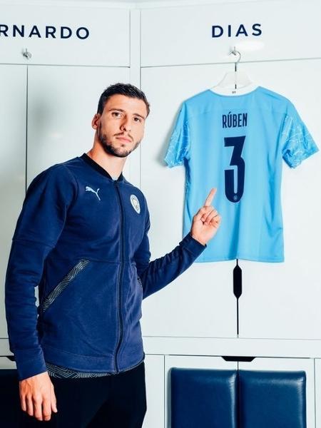 Rúben Dias vestirá a camisa 3 no Manchester City - Divulgação/Manchester City