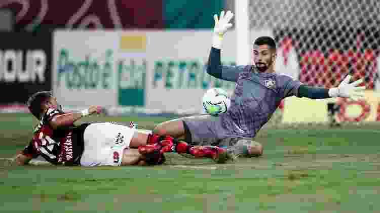 Marcos Felipe teve grande atuação e foi destaque do Fluminense no Fla-Flu - ANDRE MELO ANDRADE/ESTADÃO CONTEÚDO - ANDRE MELO ANDRADE/ESTADÃO CONTEÚDO