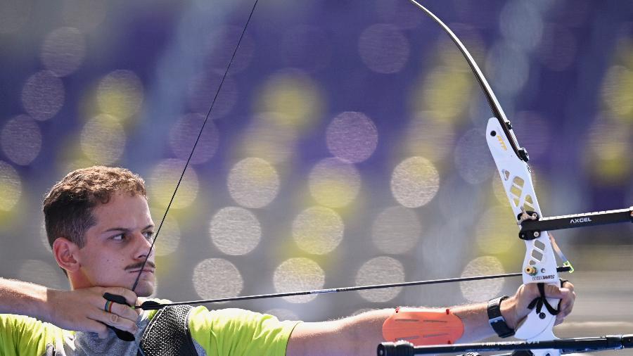 """Marcus D""""Almeida faz novo 7 a 1 e avança às oitavas de final do tiro com arco nas Olimpíadas de Tóquio-2020 - Clodagh Kilcoyne/Reuters"""