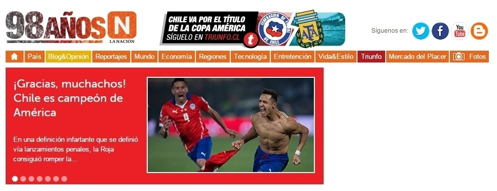 O La Nación do Chile agradeceu aos