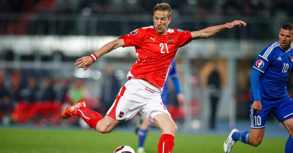 Marko Janko em ação pela seleção da Áustria
