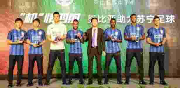 Brasileiros foram protagonistas de evento de apresentação nesta quinta-feira - Jiangsu Suning/Divulgação