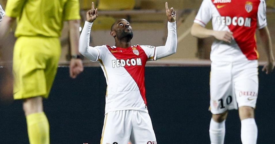 Vagner Love comemora gol marcado pelo Monaco sobre o Rennes