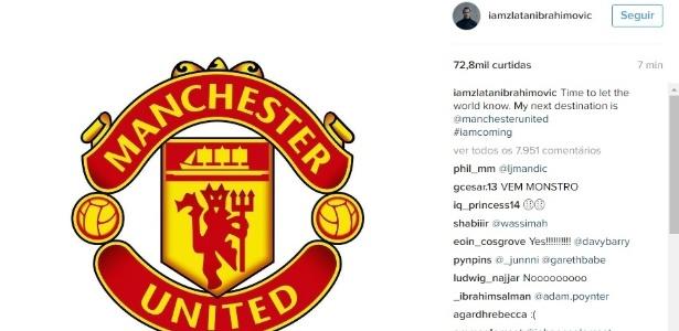 Atacante postou mensagem em sua página no Instagram