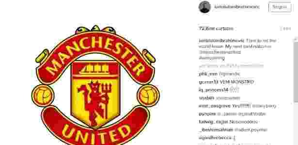 Atacante postou mensagem em sua página no Instagram - Reprodução/Instagram
