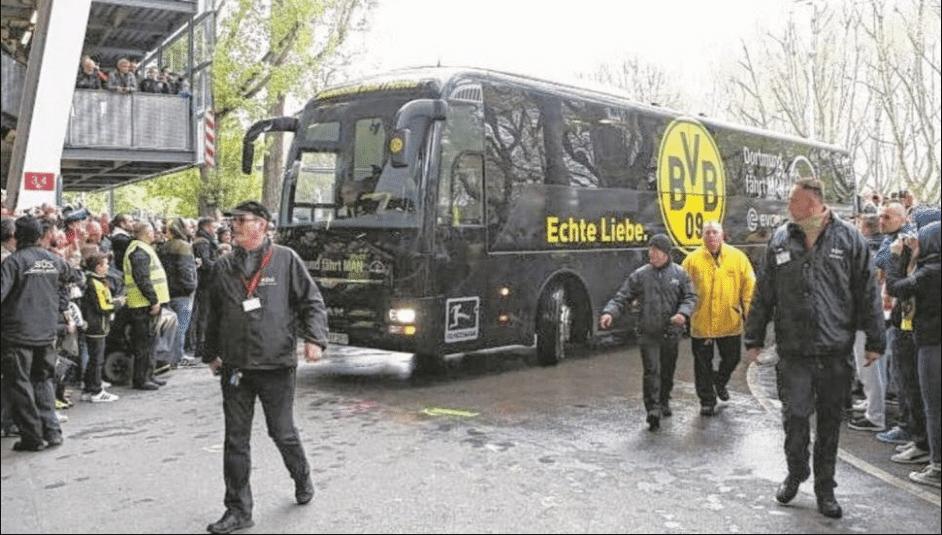 Explosão ocorreu ao lado do ônibus do Borussia Dortumund