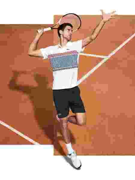 Djokovic Roland Garros - Lacoste/Divulgação - Lacoste/Divulgação