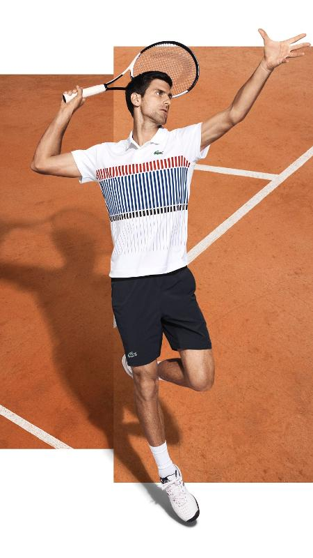 Lacoste divulga uniforme de Djokovic para Roland Garros - Lacoste/Divulgação