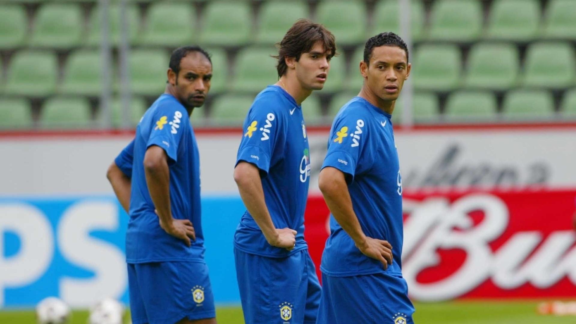 Ricardo Oliveira durante a Copa das Confederações de 2005