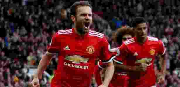 Mata comemora gol para o Manchester United contra o Crystal Palace - Jason Cairnduff/Reuters - Jason Cairnduff/Reuters