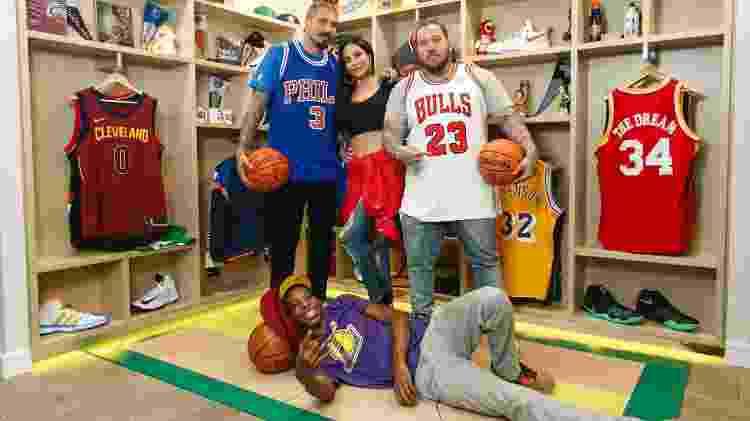Fernando Medeiros, Diana Bouth, Lucas Koka e Rapha Lima, apresentadores do NBA Freestyle - Divulgação - Divulgação