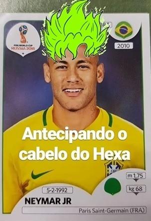 Andreoli testa visuais em Neymar no álbum da Copa