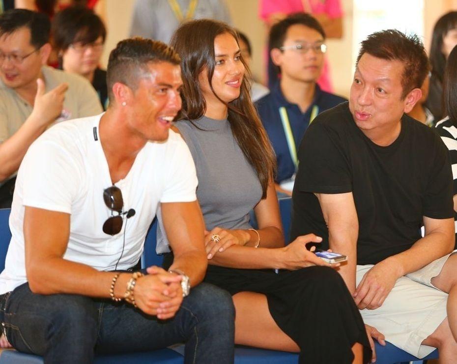 Cristiano Ronaldo e Peter Lin são amigos