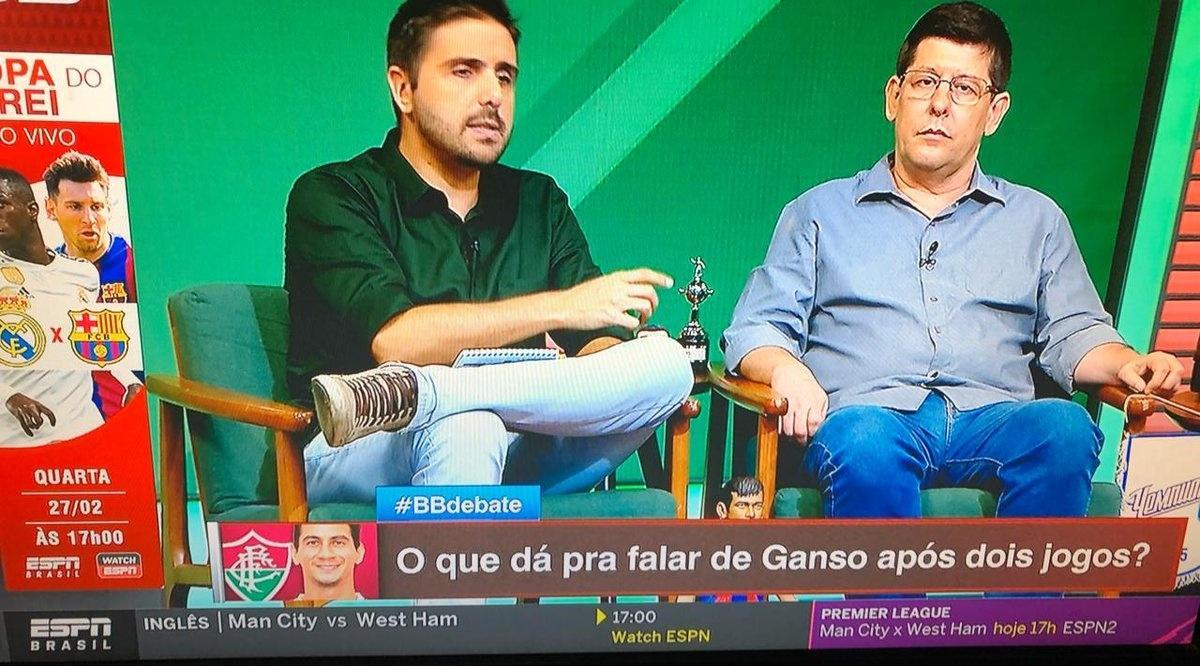 Comentaristas da ESPN analisam atuação de Ganso em jogo que ele não participou