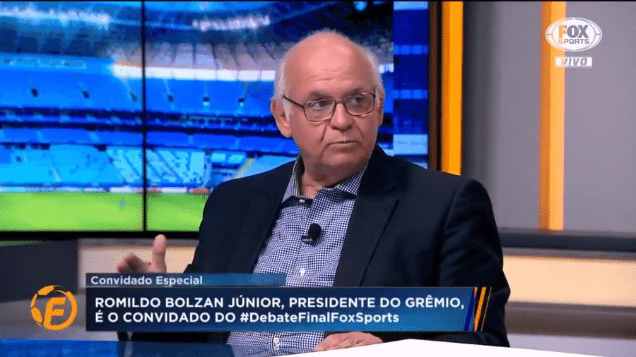 O presidente do Grêmio Romildo Bolzan  - Reprodução
