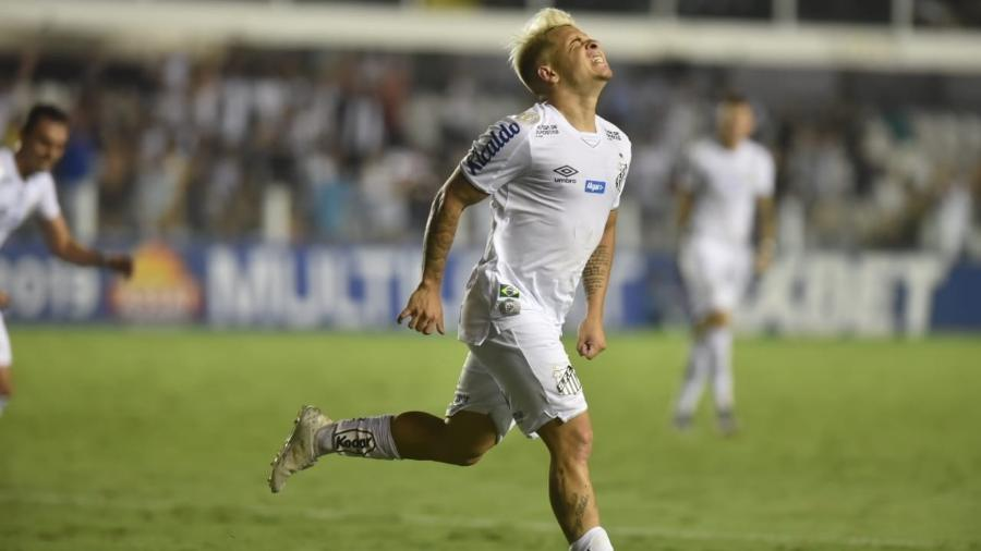 Soteldo lamenta chance de gol do Santos - Ivan Storti/Santos FC