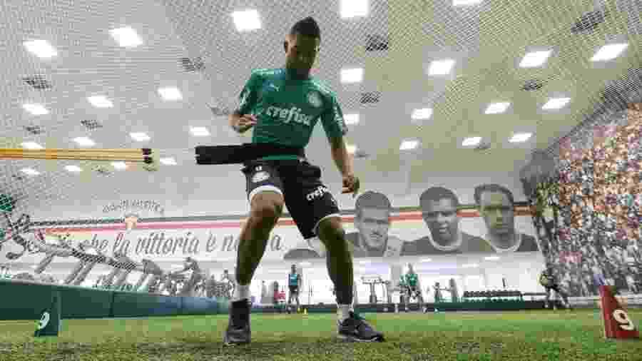 Borja treina na Academia de Futebol e tem contrato até 2021 com o Palmeiras - Cesar Greco/Ag. Palmeiras