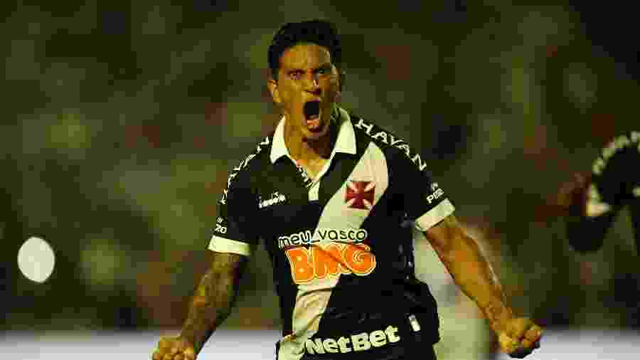Germán Cano comemora seu gol sobre o Altos (PI), no empate em 1 a 1 do Vasco pela Copa do Brasil  - Rafael Ribeiro / Vasco