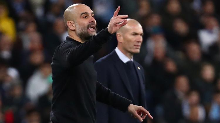 Pep Guardiola e Zinedine Zidane: encontro aguardado na Liga dos Campeões - Sergio Perez/Reuters