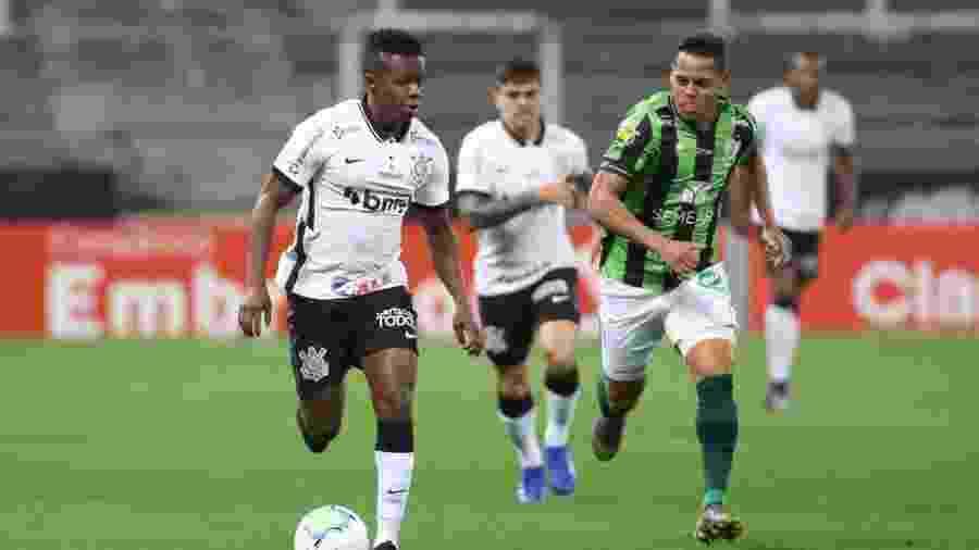 Cazares, durante a partida entre Corinthians e América-MG, pela Copa do Brasil deste ano - Rodrigo Coca/Agência Corinthians