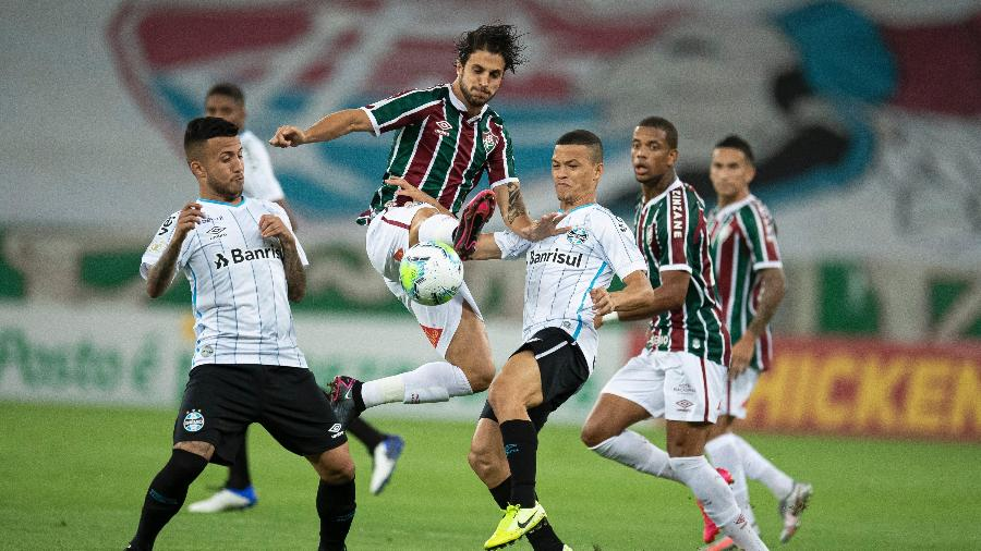 Fluminense e Grêmio se enfrentam pela 12ª rodada do Brasileirão  - Jorge Rodrigues/AGIF