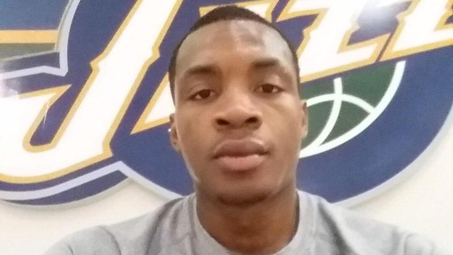 Elijah Millsap em 2015, ainda com o uniforme do Utah Jazz - Reprodução