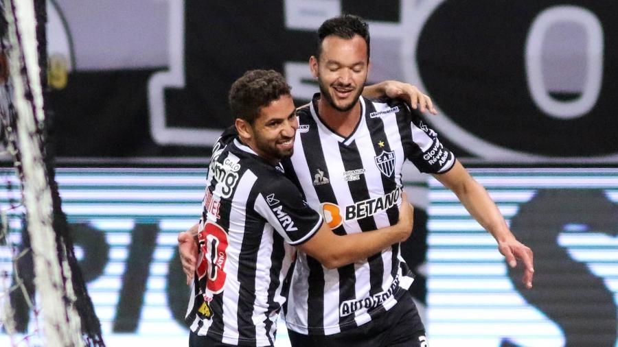 Rever comemora gol do Atlético-MG contra o Remo, em duelo válido pela Copa do Brasil - Fernando Moreno/AGIF