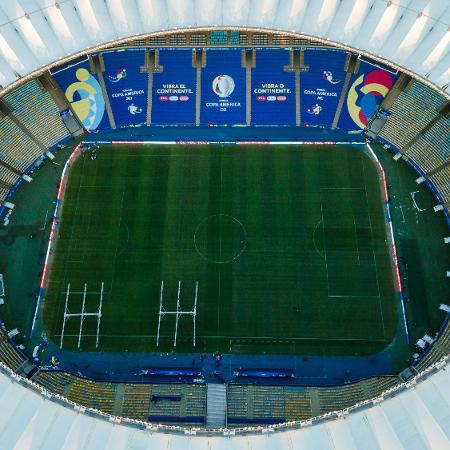 Maracanã recebeu uma decoração especial para receber a final entre Argentina x Brasil na Copa América - Thiago Ribeiro/AGIF