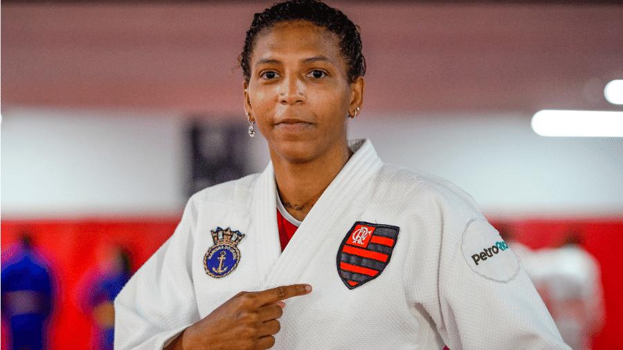 Rafaela Silva, campeã olímpica, é anunciada pelo Flamengo - Marcelo Cortes / CRF