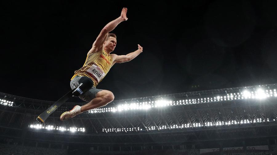 Markus Rehm, da Alemanha, mais um ouro no salto em distância paralímpico  - Naomi Baker/Getty Images
