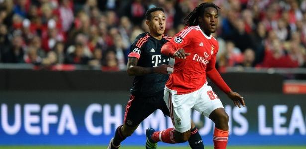 Renato Sanches em partida do Benfica contra o Bayern de Munique