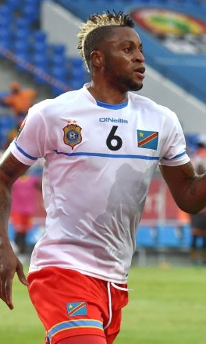 Junior Kabananga, da seleção da República Democrática do Congo, na Copa Africana de Nações 2017