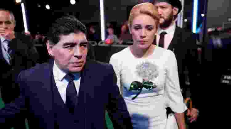 Diego Armando Maradona com a mulher Rocio Oliva em foto de 2017 - Eddie Keogh/Reuters - Eddie Keogh/Reuters