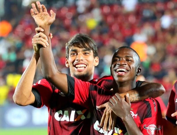 Lucas Paquetá e Vinicius Júnior se destacam pelo Flamengo no começo de 2018 - Gilvan de Souza/ Flamengo