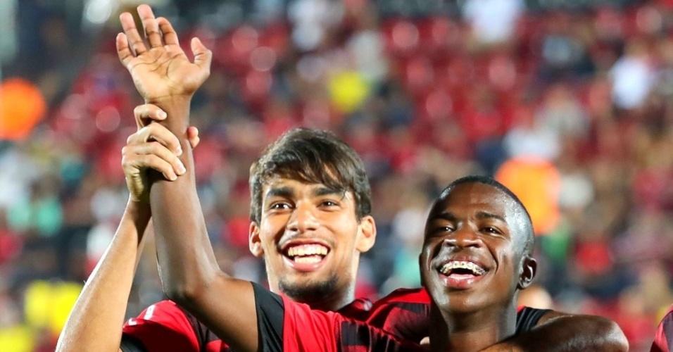 Lucas Paquetá e Vinicius Júnior se destacam no Flamengo no começo de 2018